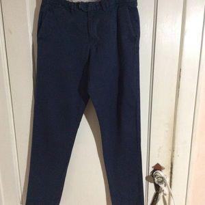 "J. Crew Men""s blue pants Bowery style. Wi32 L34"